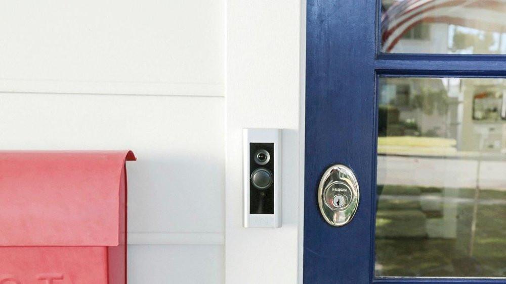 Ring Video Doorbell Pro - Satin Nickel - Door Mounted