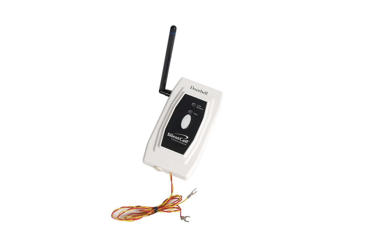Silent Call Medallion™ Series Wired Doorbell Transmitter (with battery) (SC-DB41-MC)