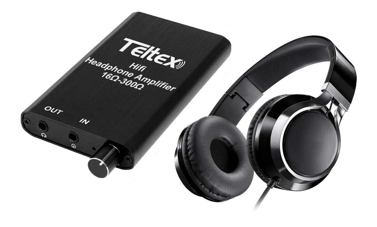 Teltex In-Line Amplifier Headset w/In-Line Microphone