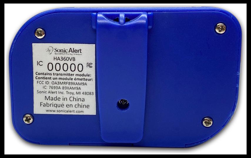 Sonic Alert HA360VB (Back)