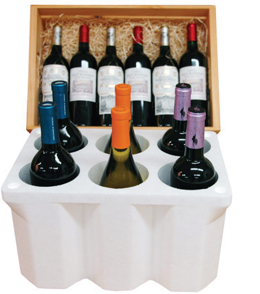 Styrofoam Wine Shipper