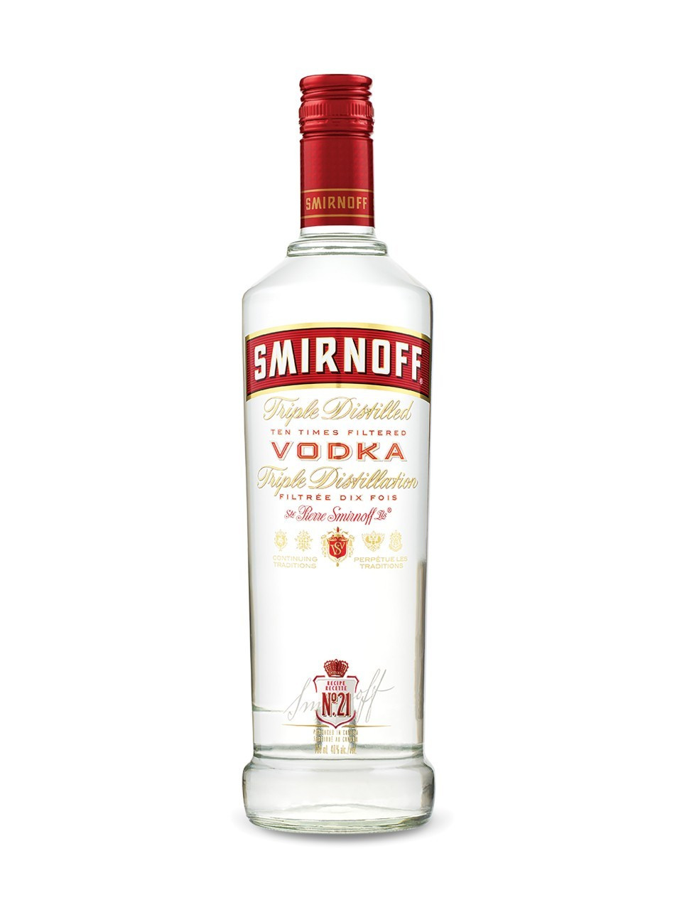 Bottle of smirnoff vodka