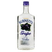 Burnetts Flavored Vodka Grape 750ml