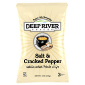 Deep River Salt & Cracked Pepper Kettle Cooked Potato Chips 5oz