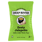 Deep River Zesty Jalapeno Kettle Cooked Potato Chips 5oz