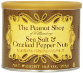 The Peanut Shop of Williamsburg Sea Salt & Cracked Pepper Nuts
