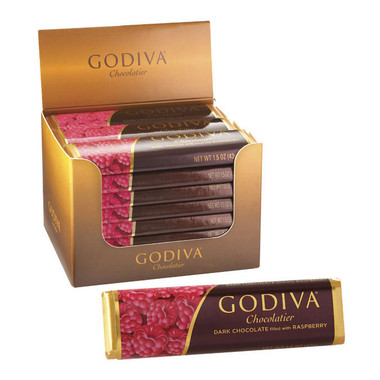 Godiva Dark Chocolate filled with Raspberry Bar 1.5oz