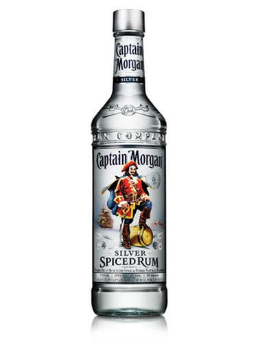 Captain morgan silver spiced rum 750ml crown wine spirits for Mix spiced rum with