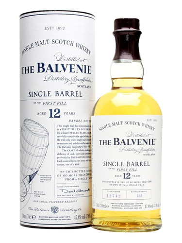 Balvenie 12 Year Old Single Barrel Single Malt Scotch Whisky 750ml