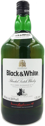 Black and White Blended Scotch 1.75L