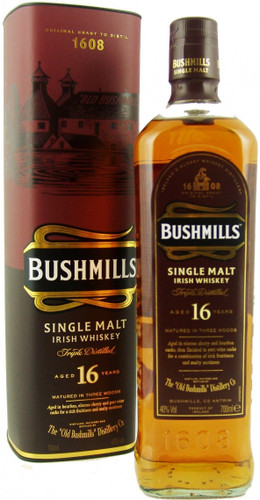Bushmills 16 Year Old Single Malt Irish Whiskey 750ml