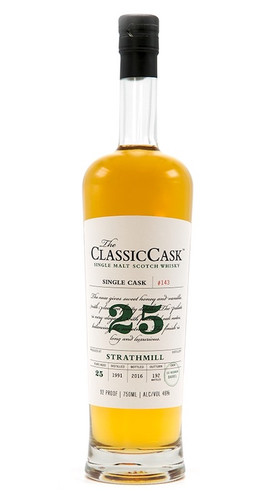 The Classic Cask Strathmill 25 Year 1991 Single Malt Scotch Whisky