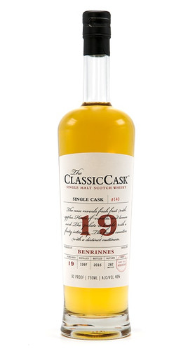 The Classic Cask Benrinnes 19 Year Old 1997 Single Malt Scotch Whisky