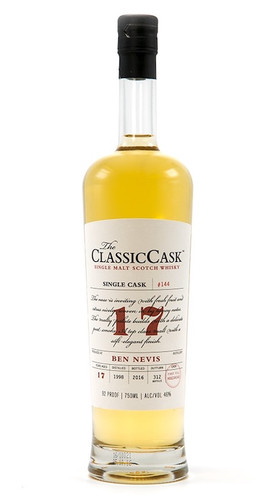 The Classic Cask Ben Nevis 17 Year Old 1998 Single Malt Scotch Whisky