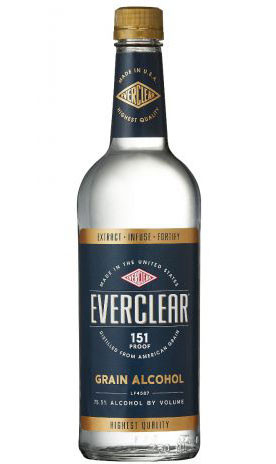 Everclear 151 Proof Grain Alcohol 750ml