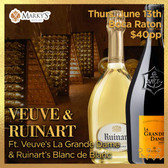 Veuve and Ruinart - Tasting Ticket