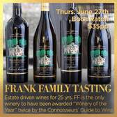 Frank Family Vineyards - Tasting Ticket