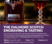 The Dalmore Whisky Tasting Coral Gables - Tasting Ticket June 9th