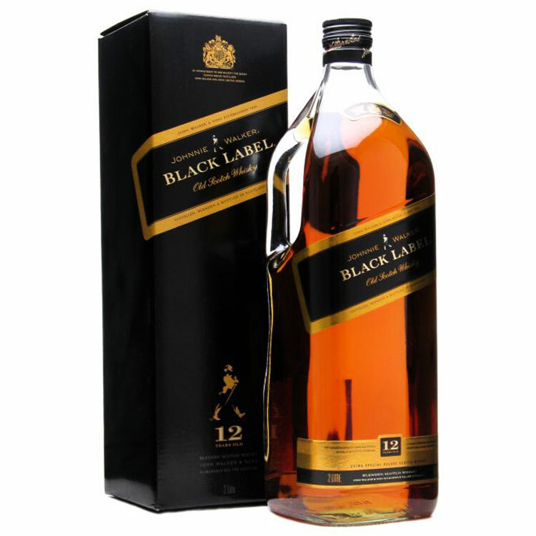Black Label Price >> Johnnie Walker Black Label 12 Year Blended Scotch Whisky 1 75l