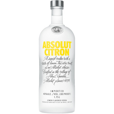 Absolut Citron Vodka 1.75L