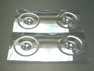 Wheel disc lexan Clear 1/10 (4)