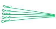 extra long body clip 1 10 - fluorescent green (5)