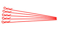 extra long body clip 1 10 - fluorescent red (5)