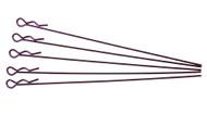 extra long body clip 1 10 - metallic purple (5)