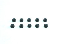 Aluminum M3 nylock nut Black (10)
