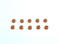 Aluminum M4 nylock nut Orange (10)