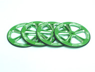Aluminum Setup Wheels for 1/10 On-Road (Green) (4)