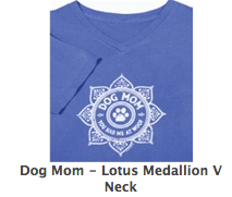 Ladies v-neck tee in Periwinkle Dog Mom-you had me a woof