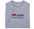 I love cats it's humans that annoy me tee
