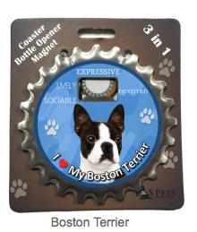 Labrador yellow dog coaster magnet bottle opener Bottle Ninjas magnetic Lab