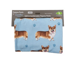 The adorable Welsh Corgi on a super soft and comfy lounge pant
