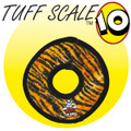 "Mega  JR Ring- Tiger Print   Tuff Scale 10 9""X9""X1""   great for med-lg dogs Mega Construction: Seven Rows of Stitching  Tough, won't hurt gums, washable-just air dry!"