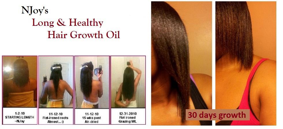 NJoy's Long & Healthy Hair Growth Oil