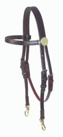 Bridle, Leather Quick Change Training Headstall (Walsh 8080)