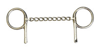Half Cheek, Stainless Steel Chain Mouth (Bowman's #431)