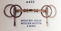 Half Cheek, Mule Bit in Solid Mullen Mouth Shape (Bowman's #433)