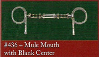 Half Cheek, Mule Mouth with Blank Center (Bowman's #436)