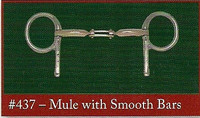 Half Cheek, Mule Center Link with Smooth Bars (Bowman's #437)