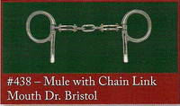Half Cheek, Mule Mouth with Dr Bristol Chain Link (Bowman's #438)