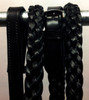 Black Leather 5-Strand Braided/Plaited Reins
