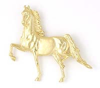 Lapel Pin/Brooch, Medium Gold Saddlebred