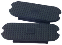 Stirrup Pads, Black Replacement, for Fillis Irons (Korsteel)