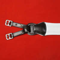 Girth, Soft White Leather Dull Finish CLOSEOUT (Imported)
