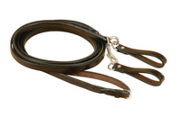 Draw Reins, Leather w/Girth Loops