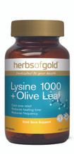Herbs of Gold Lysine 1000 + Olive Leaf