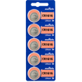 Sony Murata CR1616 3V Lithium Coin Battery -  5 Pack + FREE SHIPPING!